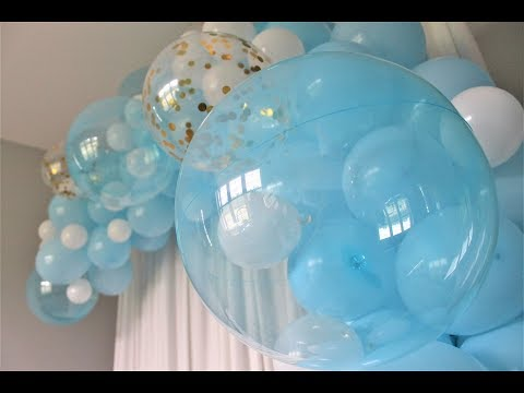 Blue Gold Balloon Garland DIY | How To