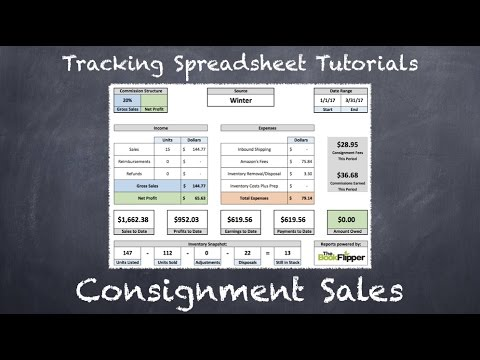 tracking spreadsheet 2 0 tutorial consignment sales youtube