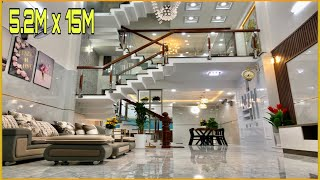 Bán nhà Gò Vấp | Nhà 5.2m x 15m thiết kế trang trí cực kỳ đẹp