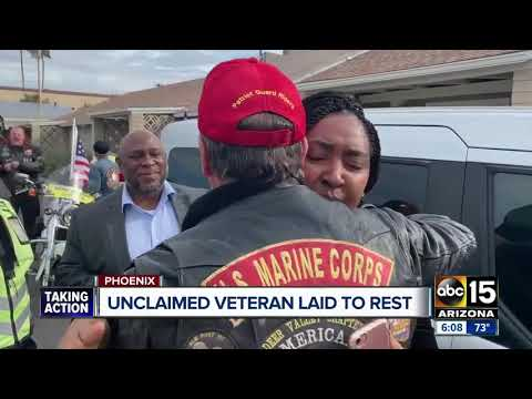Dozens attend funeral for unclaimed veteran in Phoenix