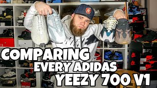COMPARING EVERY ADIDAS YEEZY 700 V1 INERTIA,WAVE RUNNERS,MAUVE,SALT