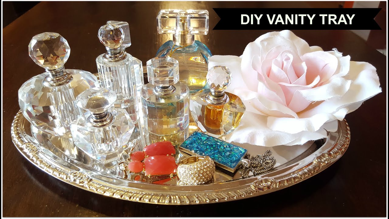 Diy Vanity Tray Easy Decorating Ideas 3 Looks Youtube