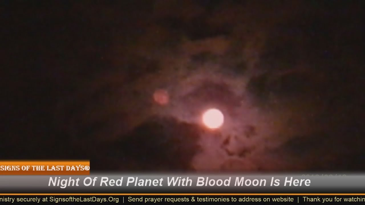 Night of Red Planet With Blood Moon Over Israel Here