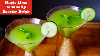 Immunity Booster Green Lime Juice, simple & tasty lime juice, welcome drink, summer drink,Green lime