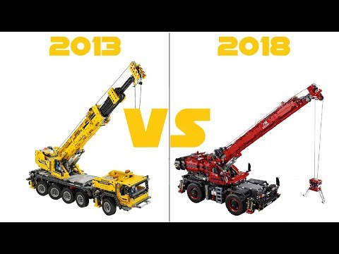 Lego Technic 42082 Rough Terrain Crane Vs 42009 Mobile Crane Mk Ii