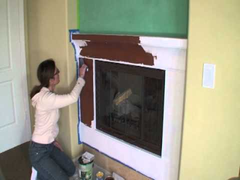 Fireplace Remodel Ideas Using Venetian Plaster And High
