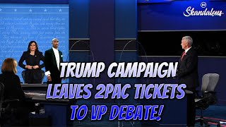 Trump Campaign leaves 2Pac Tickets for The Vice Presidential Debate! | 2020