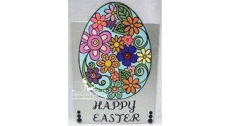 Mixed Media Canvas, Happy Easter.