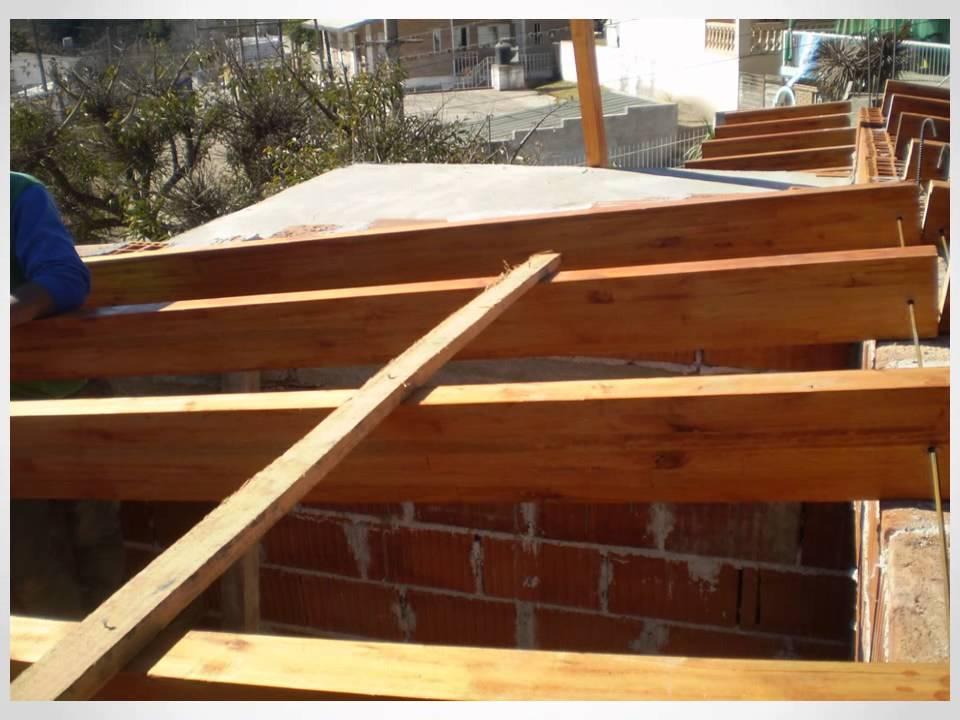Armado de techo de viga compensada de dos agua youtube for Como hacer tejados de madera