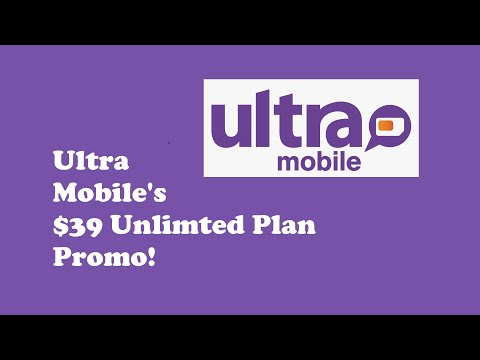 Ultra Mobile $39 Unlimited Data Plan Promo!