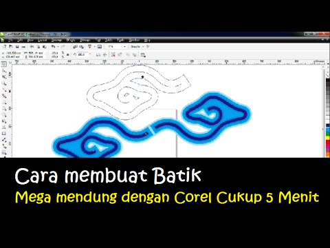 Membuat Batik Mega Mendung Cirebon Dengan Corel 5 Menit Youtube