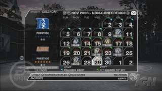 NCAA March Madness 07 Xbox 360 Gameplay - School Pride