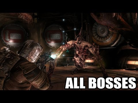 Dead Space 2 - All Bosses (With Cutscenes) HD