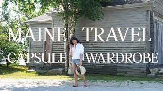 What I Wore & Saw In Maine | Travel Capsule Wardrobe