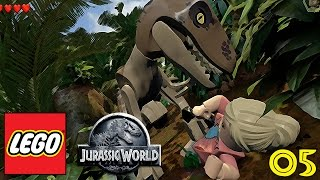 "LEGO JURASSIC WORLD Gameplay Walkthrough Part 5 - ""RAPTOR ATTACK!!!"" (1080p HD PC)"