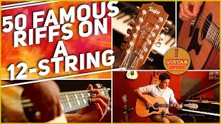 Gambar cover 50 Famous Guitar Riffs On A 12-STRING - Teaser