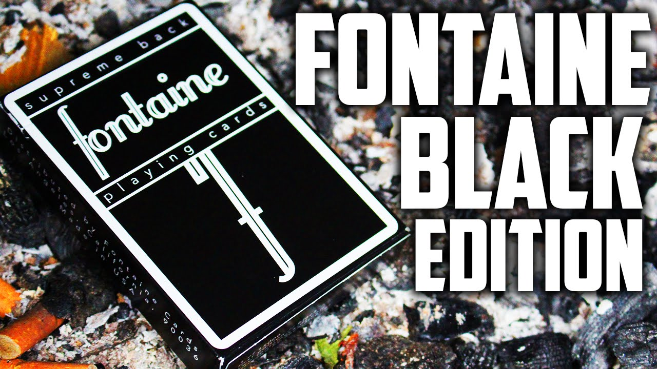 Deck Review - Black Fontaine Playing Cards [HD]