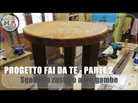 Sgabello rustico a tre gambe parte 2^ youtube