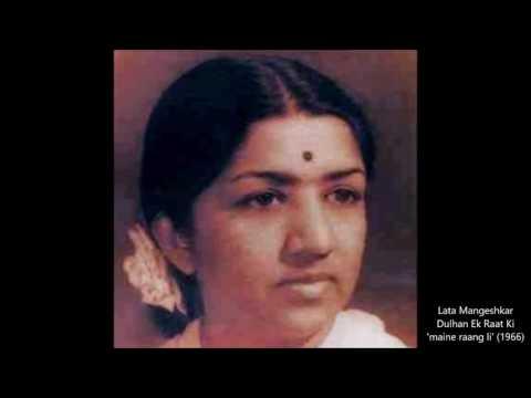Lata Mangeshkar - Dulhan Ek Raat Ki (1966) - 'maine rang li'