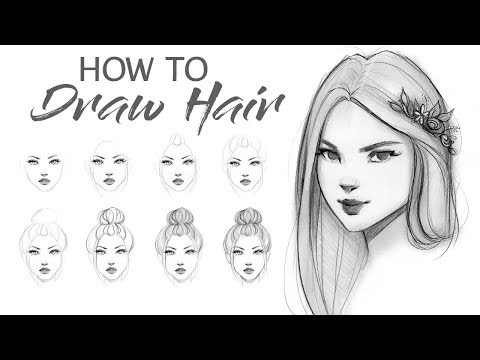 How to Draw Hair - Step by Step Tutorial!