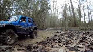 Axial Scx10 Jeep Wrangler Jk 4x4 Scale Rc Off Road Adventure Muddy Water