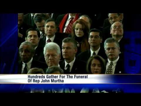 Dignitaries Attend U.S. Rep. John Murtha