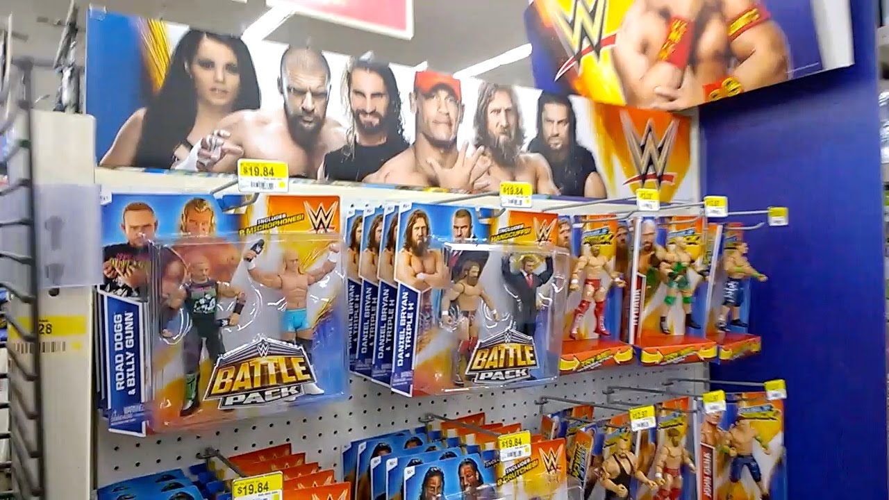 Tommy S Toy Travels 33 Wwe Display At Walmart Wrestlemania Figs