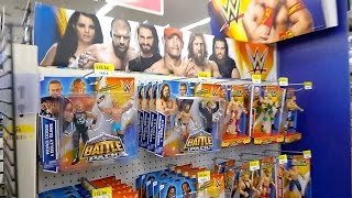 tommy s toy travels 33 wwe display at walmart wrestlemania figs elite 33 marvel legends