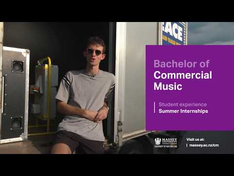 Bachelor of Commercial Music student experience | Massey University