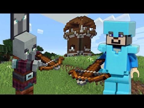 Видео обзор обновлений Майнкрафт с Нубом – На базе разбойников! – Летсплей Minecraft.
