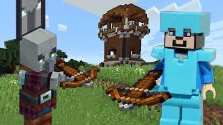 Видео обзор обновлений Майнкрафт с Нубом – На базе разбойников – Летсплей Minecraft.
