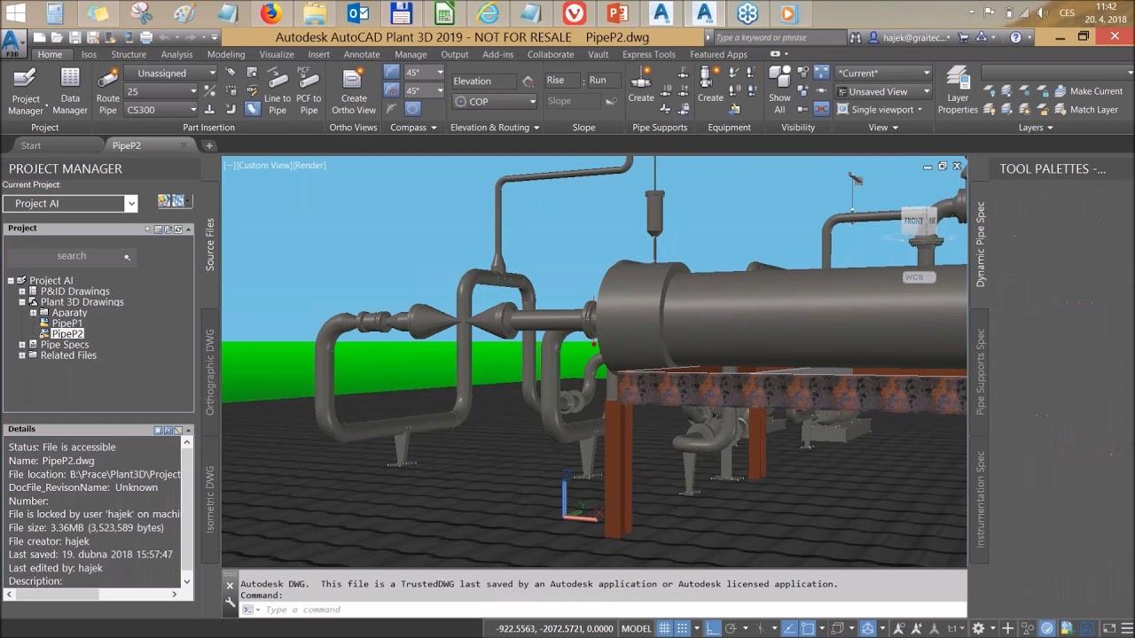 AutoCAD Plant 3D 2018 mac