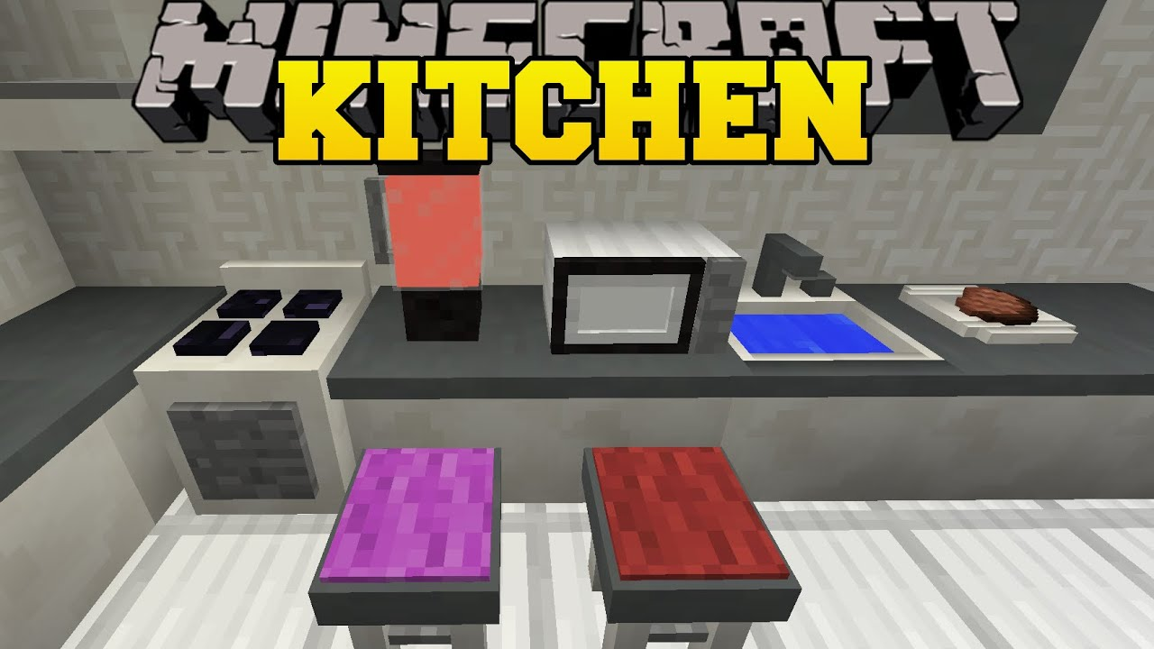 Minecraft Furniture Kitchen Minecraft Kitchen Mod Microwave Toaster Blender Dish Washer