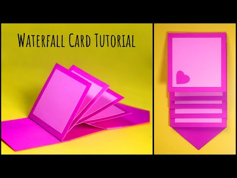 How To Make Waterfall Card | Easy Step by Step Tutorial