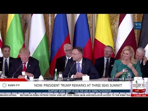 LIVE: PRESIDENT TRUMP SPEAKS AT THREE SEAS INITIATIVE SUMMIT IN WARSAW, POLAND 5:10 AM ET