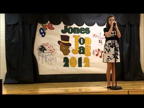 Taylor Cole singing in 6th Grade Talent