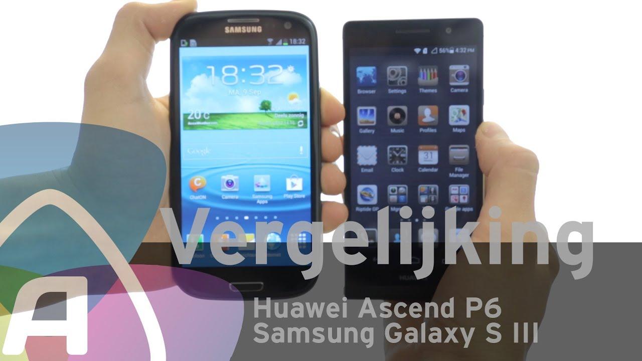 Huawei Ascend P6 vs Samsung Galaxy S III review (Dutch ...