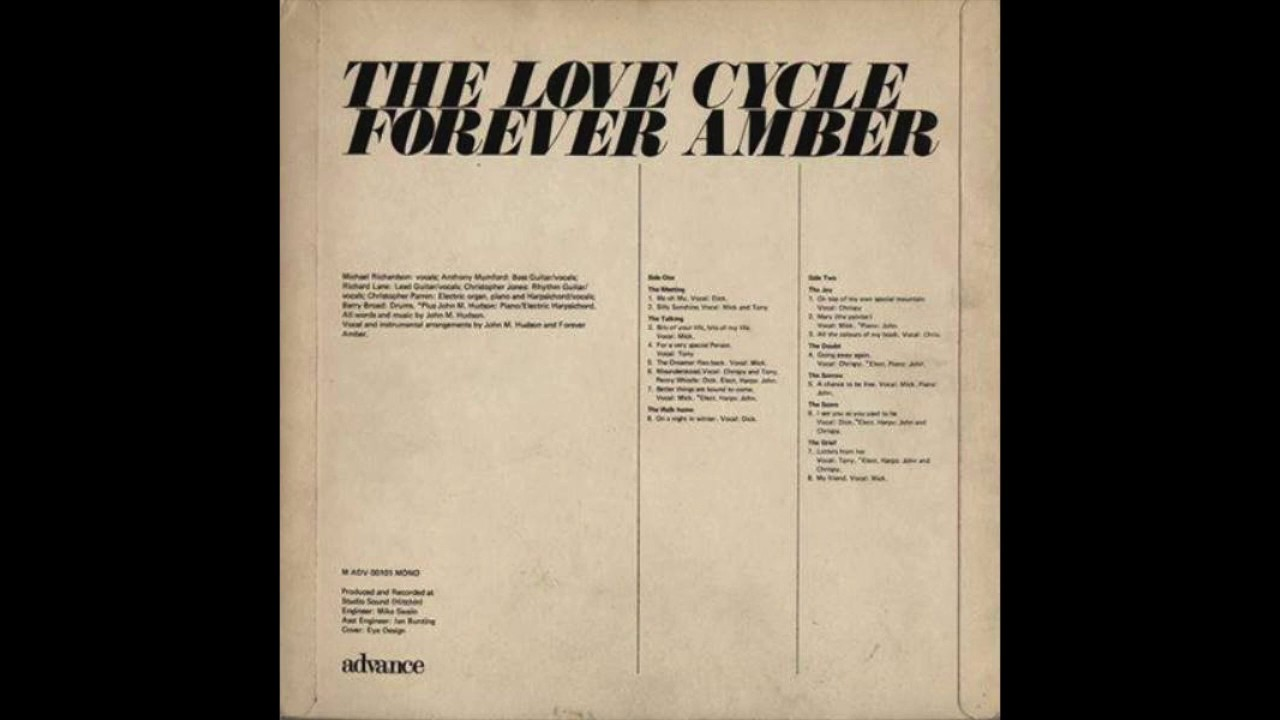 Forever Amber My Friend 1969 Youtube