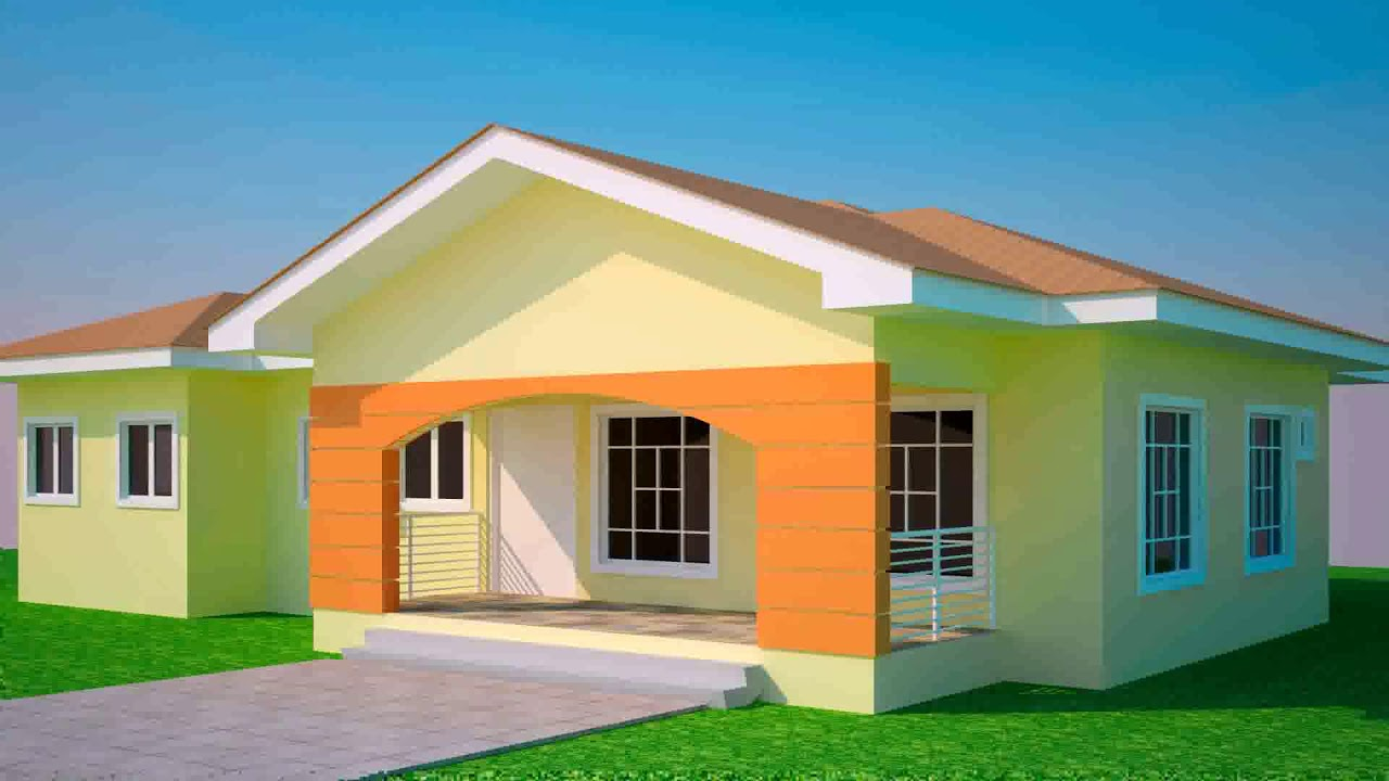 4 Bedroom House Plan Ghana   YouTube 4 Bedroom House Plan Ghana