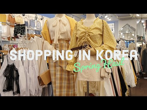 Early Spring Shopping in Korea Fashion Haul + Try On