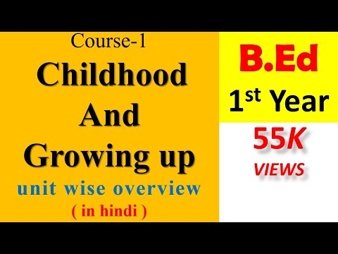 Course-1 Childhood and Growing up unit wise overview in hindi