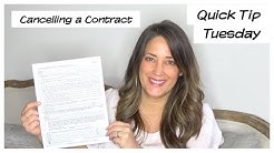 Cancelling a Real Estate Contract