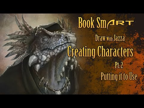 Book SmART: Draw With Jazza, Creating Characters Pt. 2 Putting it to Use!