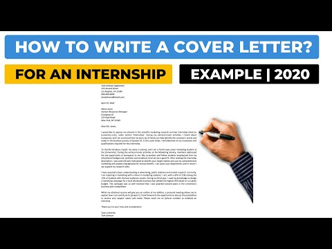 How To Write A Cover Letter For An Internship? (2020) | Example