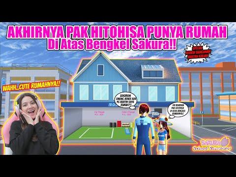 REVIEW RUMAH DI ATAS BENGKEL MILIK PAK HITOHISA!! AESTHETIC LOHH!! SAKURA SCHOOL SIMULATOR-PART 407