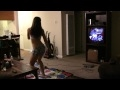 Hot Half Naked Booty Shaking Girl and Dance Dance Revolution  DDR    Nuff Said