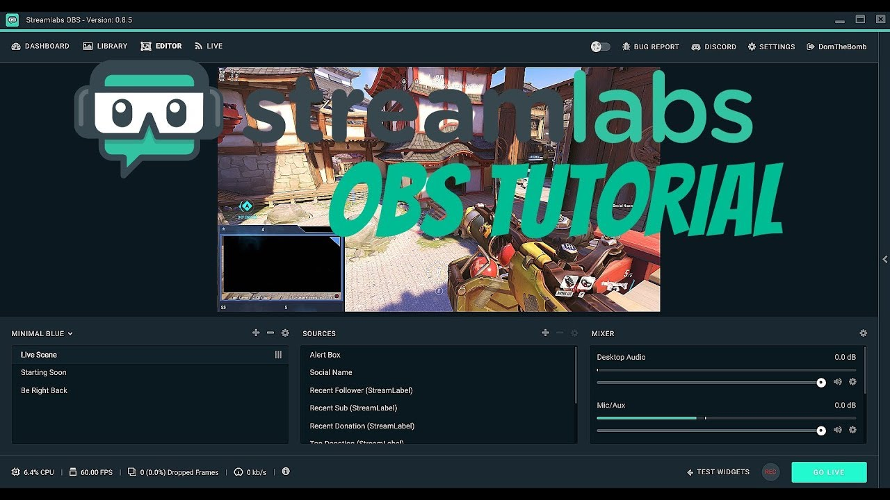 How To Setup Streamlabs Obs Slobs Setup Follower Donation Subscriber Alerts And Overlays Youtube