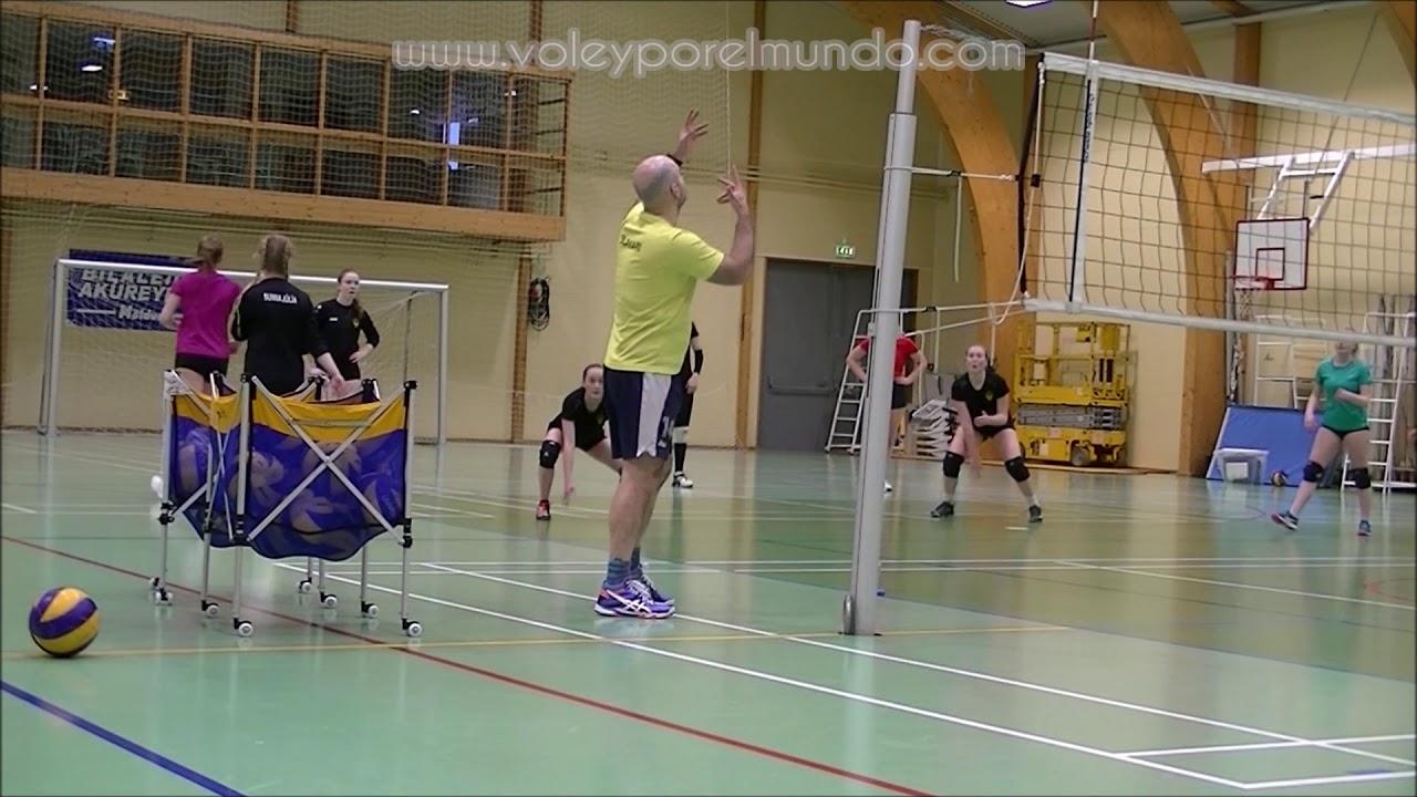 acciones tecnicas de ataque del voleibol