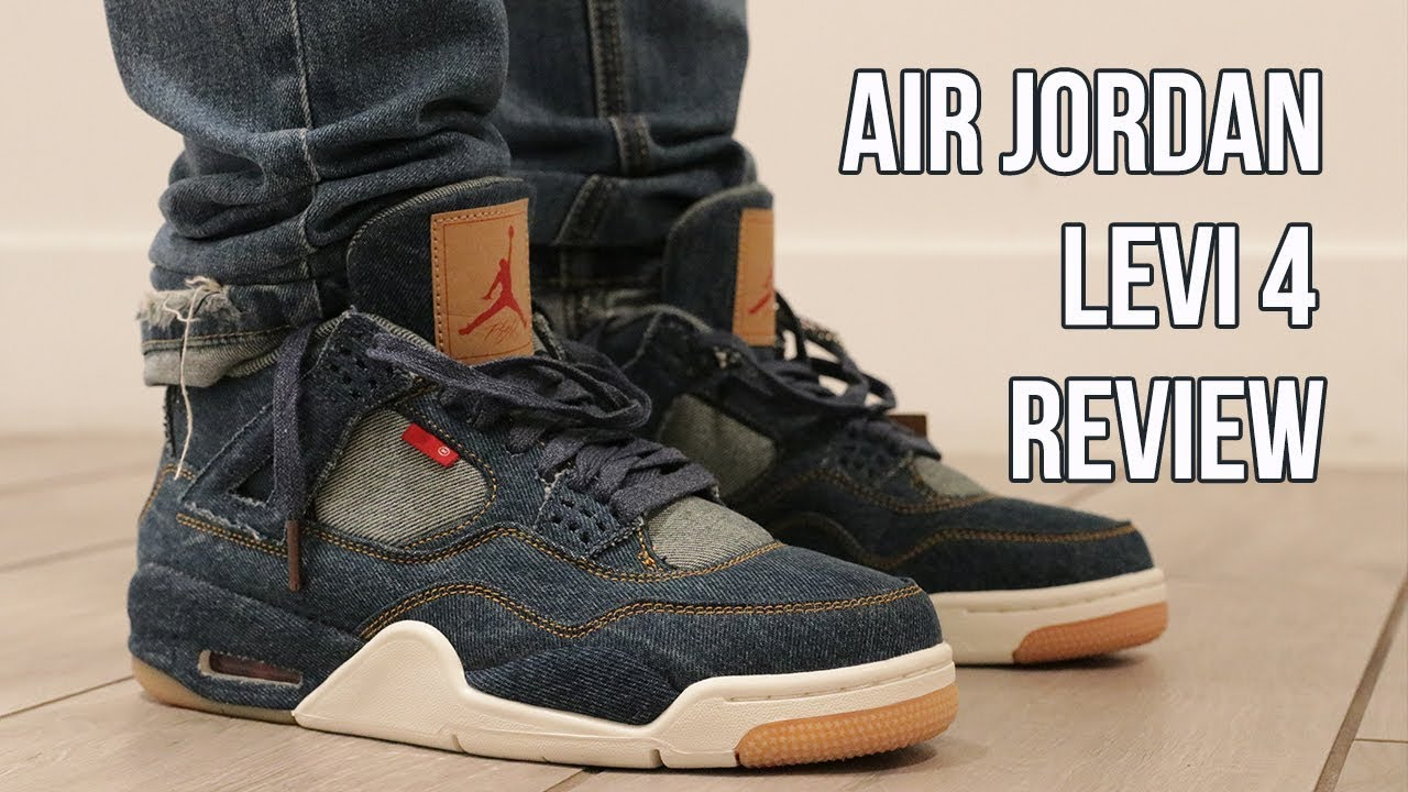 7d4d632512d9 AIR JORDAN 4 LEVI REVIEW   ON FOOT - YouTube