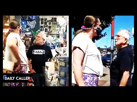 Old Vietnam Vet Confronts Tranny Man Tells Him How Disgusting He Is